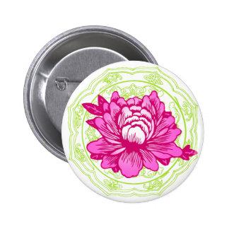 Oriental Flower Button