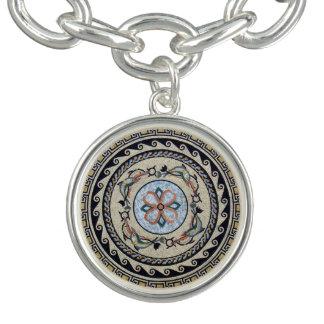 Oriental Flower Center Medallion Mosaic Bracelets