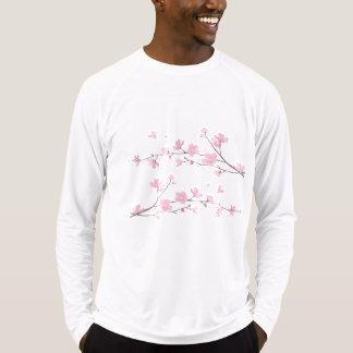 Oriental Flower-Cherry Blossom-Silver T-Shirt
