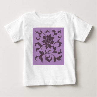 Oriental Flower - Cherry Chocolate & Lilac Baby T-Shirt