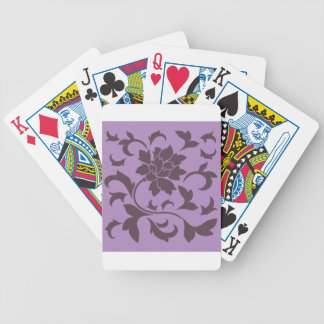 Oriental Flower - Cherry Chocolate & Lilac Bicycle Playing Cards