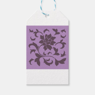 Oriental Flower - Cherry Chocolate & Lilac Gift Tags