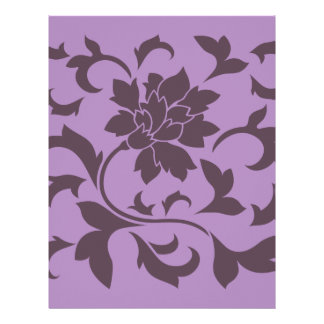 Oriental Flower - Cherry Chocolate & Lilac Letterhead