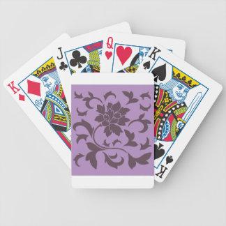 Oriental Flower - Cherry Chocolate & Lilac Poker Deck