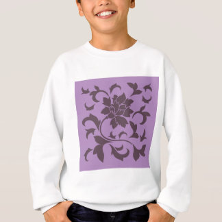 Oriental Flower - Cherry Chocolate & Lilac Sweatshirt
