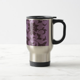 Oriental Flower - Cherry Chocolate & Lilac Travel Mug