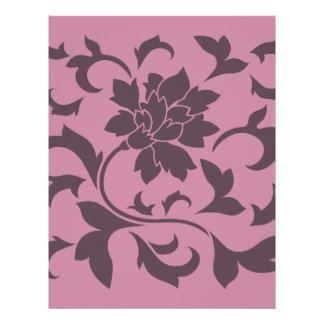 Oriental Flower - Cherry Chocolate & Strawberry Letterhead