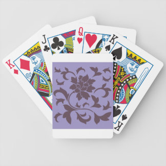 Oriental Flower - Cherry Chocolate & Violet Tulip Bicycle Playing Cards