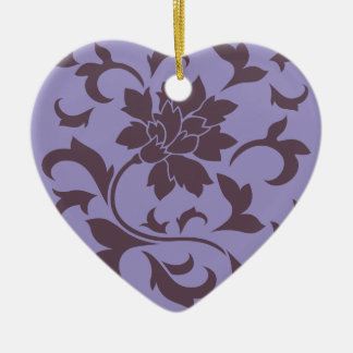 Oriental Flower - Cherry Chocolate & Violet Tulip Ceramic Ornament