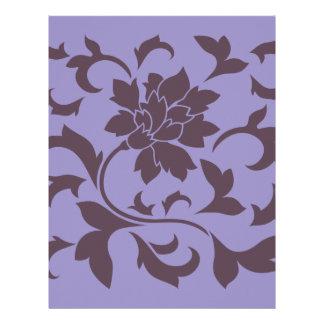 Oriental Flower - Cherry Chocolate & Violet Tulip Letterhead
