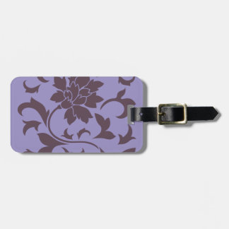 Oriental Flower - Cherry Chocolate & Violet Tulip Luggage Tag