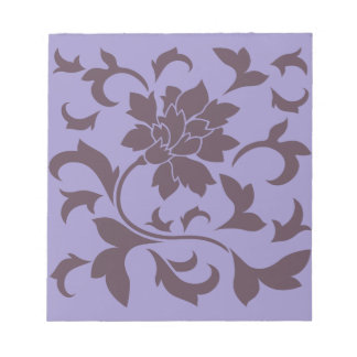 Oriental Flower - Cherry Chocolate & Violet Tulip Notepad