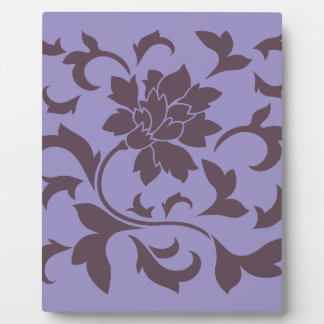 Oriental Flower - Cherry Chocolate & Violet Tulip Plaque