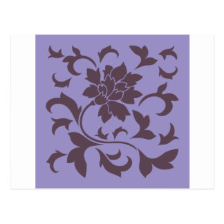 Oriental Flower - Cherry Chocolate & Violet Tulip Postcard