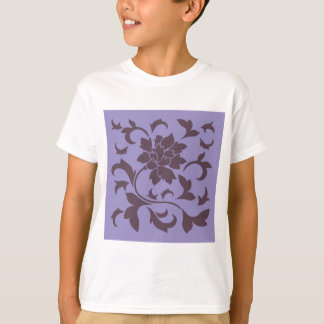 Oriental Flower - Cherry Chocolate & Violet Tulip T-Shirt