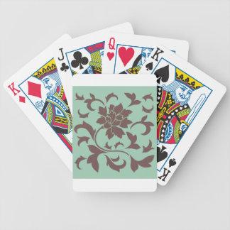 Oriental Flower - Chocolate Hemlock Bicycle Playing Cards