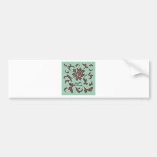 Oriental Flower - Chocolate Hemlock Bumper Sticker