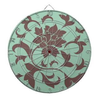 Oriental Flower - Chocolate Hemlock Dartboard