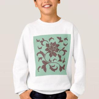 Oriental Flower - Chocolate Hemlock Sweatshirt