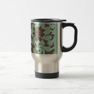 Oriental Flower - Chocolate Hemlock Travel Mug