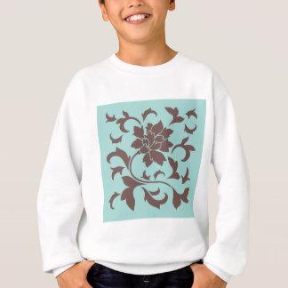 Oriental Flower - Chocolate Limpet Shell Sweatshirt