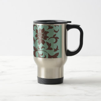 Oriental Flower - Chocolate Limpet Shell Travel Mug