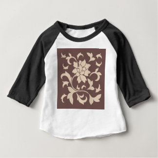 Oriental Flower - Coffee Latte Chocolate Baby T-Shirt