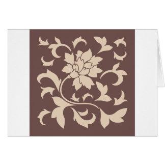 Oriental Flower - Coffee Latte Chocolate Card