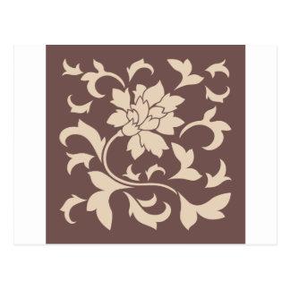 Oriental Flower - Coffee Latte Chocolate Postcard