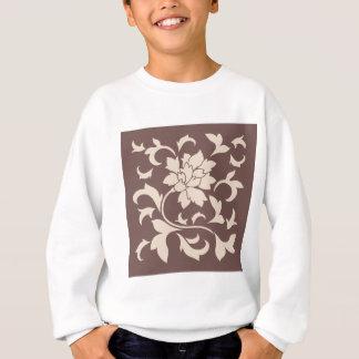 Oriental Flower - Coffee Latte Chocolate Sweatshirt