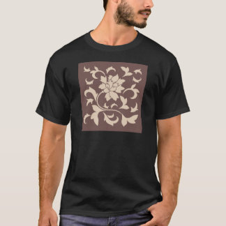 Oriental Flower - Coffee Latte Chocolate T-Shirt