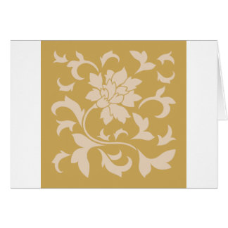 Oriental Flower - Coffee Latte & Spicy Mustard Card