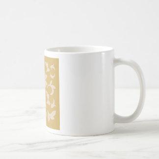 Oriental Flower - Coffee Latte & Spicy Mustard Coffee Mug