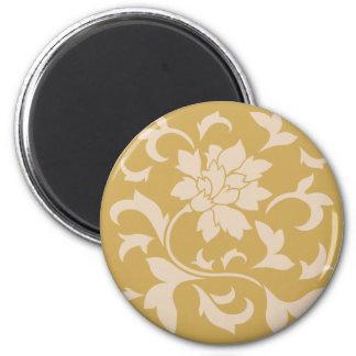 Oriental Flower - Coffee Latte & Spicy Mustard Magnet