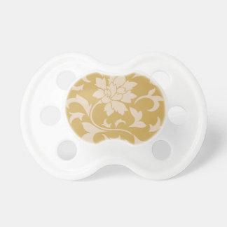 Oriental Flower - Coffee Latte & Spicy Mustard Pacifiers