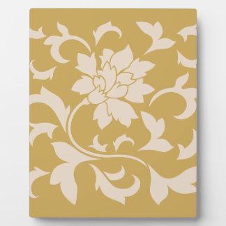 Oriental Flower - Coffee Latte & Spicy Mustard Plaque