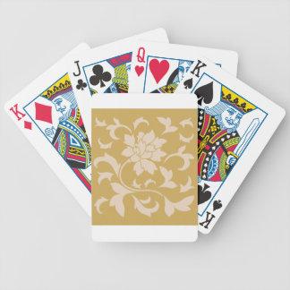 Oriental Flower - Coffee Latte & Spicy Mustard Poker Deck