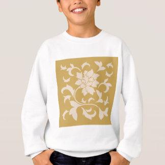 Oriental Flower - Coffee Latte & Spicy Mustard Sweatshirt