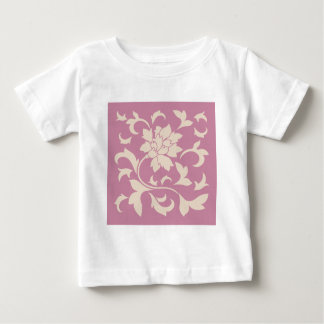 Oriental Flower - Coffee Latte & Strawberry Baby T-Shirt