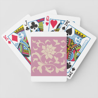 Oriental Flower - Coffee Latte & Strawberry Bicycle Playing Cards
