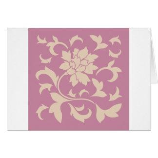 Oriental Flower - Coffee Latte & Strawberry Card