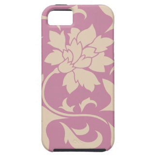 Oriental Flower - Coffee Latte & Strawberry iPhone 5 Case