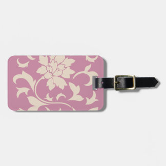 Oriental Flower - Coffee Latte & Strawberry Luggage Tag