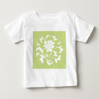 Oriental Flower - Daiquiri Green Circular Pattern Baby T-Shirt