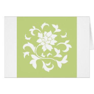 Oriental Flower - Daiquiri Green Circular Pattern Card
