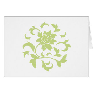 Oriental Flower - Daiquiri Green Circular Pattern Card