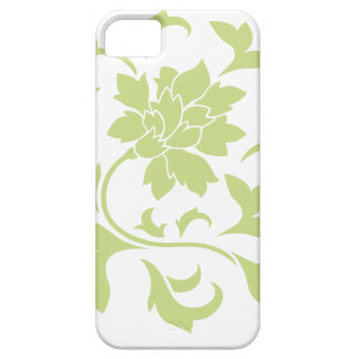 Oriental Flower - Daiquiri Green Circular Pattern Case For The iPhone 5