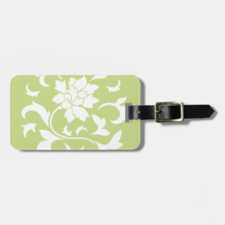 Oriental Flower - Daiquiri Green Circular Pattern Luggage Tag