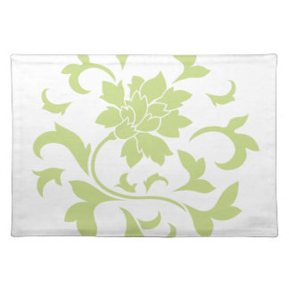 Oriental Flower - Daiquiri Green Circular Pattern Placemat