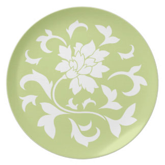 Oriental Flower - Daiquiri Green Circular Pattern Plate
